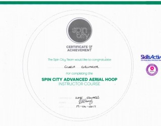 spin city advanced aerial hoop instructor course